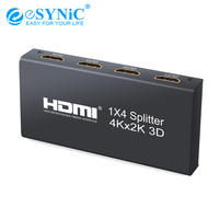 eSYNiC 1×4 HDMI Splitter Support 4Kx2K 3D HDMI Splitter HDMI To HDMI Splitter Hubs For HDTV DVD PS3 Xbox For Fit DTS HD/Dolby