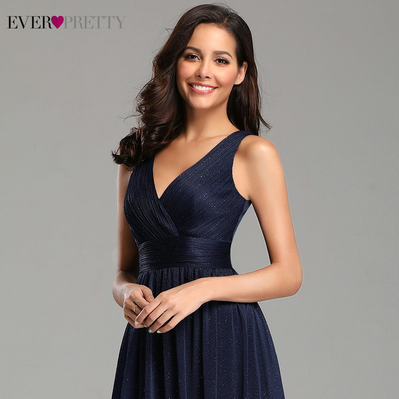 Image 5 - Ever Pretty Prom Dresses V Neck A Line Sleeveless Empire Floor Length Elegant Sexy Party Gowns 2019 Vestidos De Fiesta De Noche-in Prom Dresses from Weddings & Events