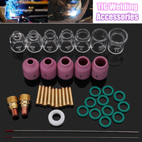 38pcs TIG Welding Kit Torch Stubby Gas Lens #4 12 Glass Cup Kit Welding Accessories For WP9/20/25