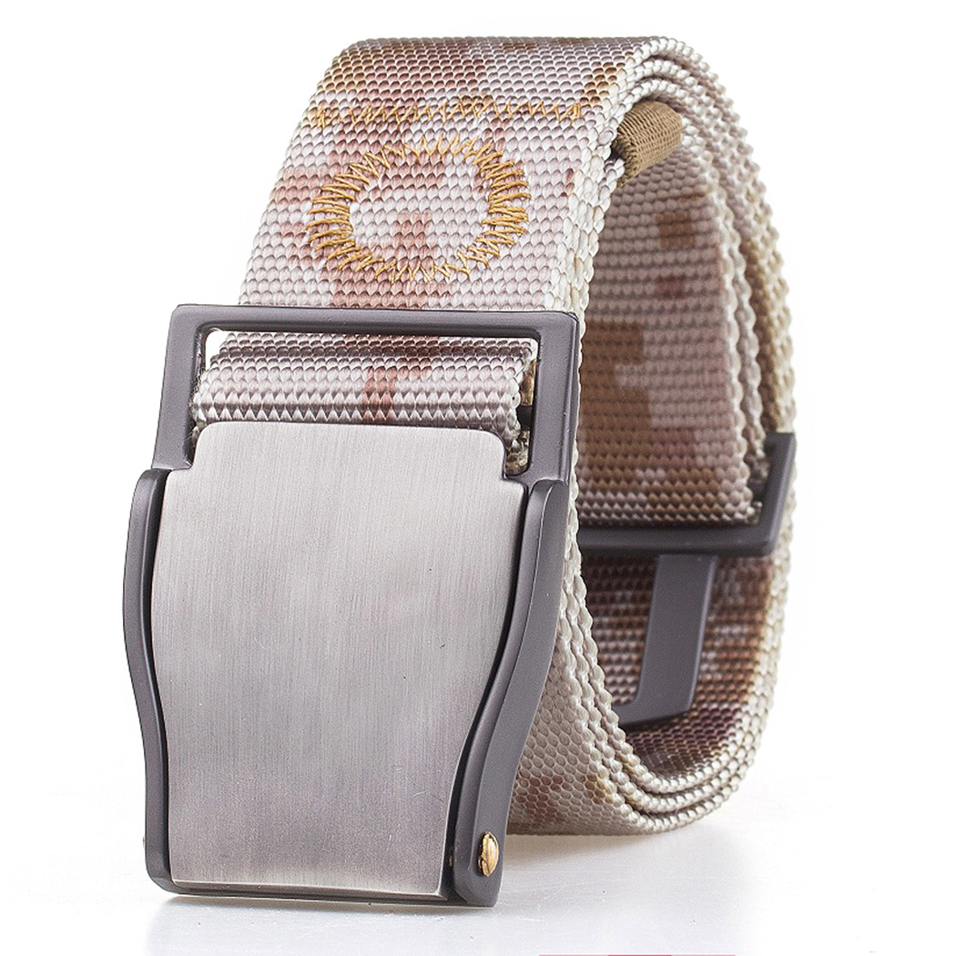 Men's Belts 1pc Fashion Automatic Buckle Army Belts Strap 125cm Outdoor Military Tactical Belt Multicam Molle Alloy Buckle Nylon Waist Belts