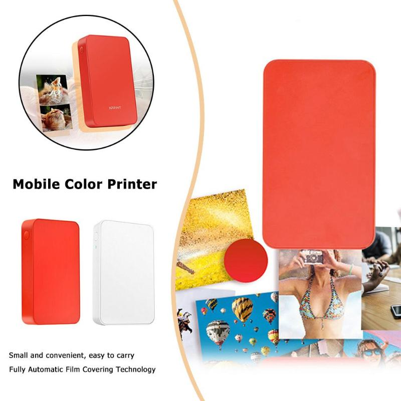 Attent Pocket Bluetooth Printer Mini Thermische Kleurrijke Picture Photo Printer Voor Android Ios Mobiele Telefoon Gat Punch Dropshipping Het Verlichten Van Reuma