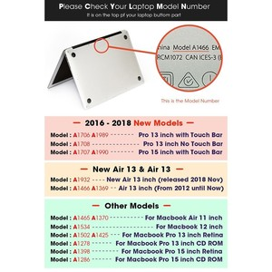 Image 5 - Чехол для ноутбука MacBook Чехол для ноутбука для MacBook Air Pro retina 11 12 13 15,4 дюймов с защитой экрана крышка клавиатуры