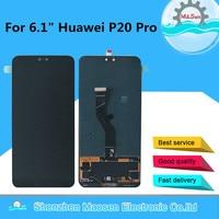 Оригинальный M & Sen для 6,1 huawei P20 Pro CLT AL01 ЖК экран + сенсорная панель дигитайзер с отпечатком пальца для P20 Pro дисплей