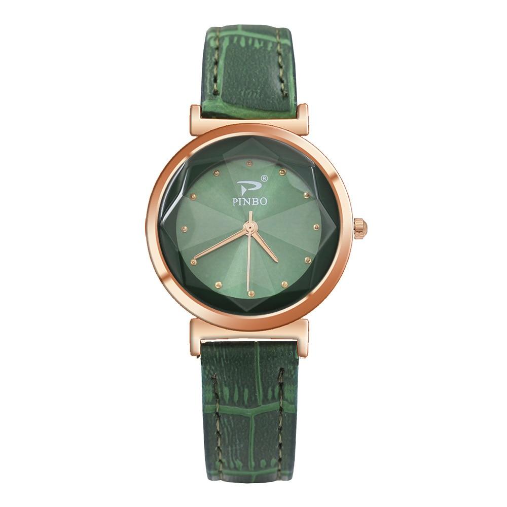 Green Women Wrist Watch Quartz Leather Business Watches Ladies Rosefield Clock Fashion Casual Relogio Feminino 2018 Dropship