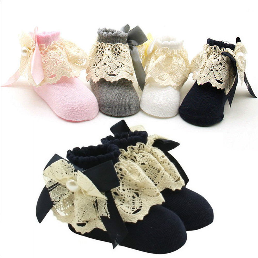 Baby Girls Boys Anti-slip Floor Socks Lace Patchwork Princess Newborn Toddled Baby Ankle Sock 0-12 MonthsBaby Girls Boys Anti-slip Floor Socks Lace Patchwork Princess Newborn Toddled Baby Ankle Sock 0-12 Months