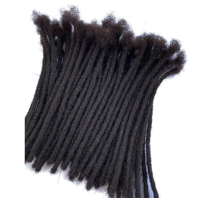 YONNA Human Hair Dreadlocks Microlocks Sisterlocks Dreadlocks Hair Extensions 60Locs Full Handmade 0.4cm Width 1