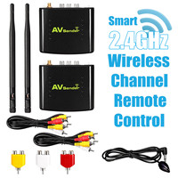 Remote 2.4GHz AV Wireless Transmitter Receiver Set 350M/1148ft TV Broadcasting Audio Video Sender Sharer Extender Equipments Kit