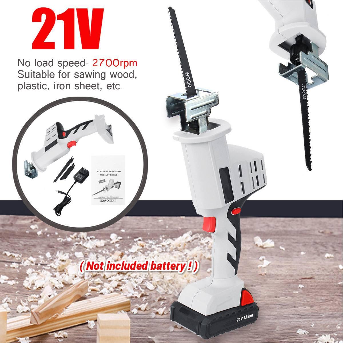 21V Portable Charging Cordless Electric Saw 1500/2000/4000mAh Li Ion Reciprocating Saws with 1500mAh Li Ion Battery