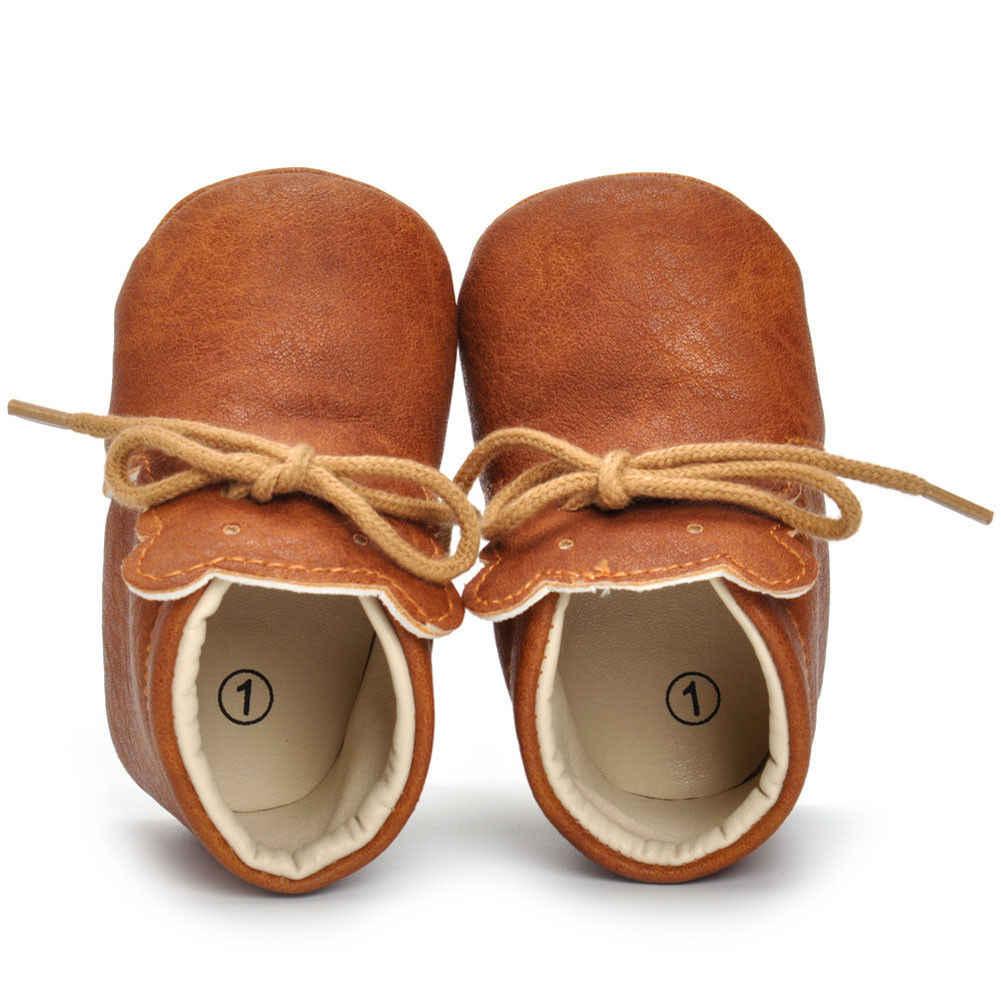 2019 Emmababy ใหม่ 0-18 M Soft Sole ข้อเท้าหนังเด็กทารกเด็กวัยหัดเดินรองเท้าเด็กรองเท้า Prewalker
