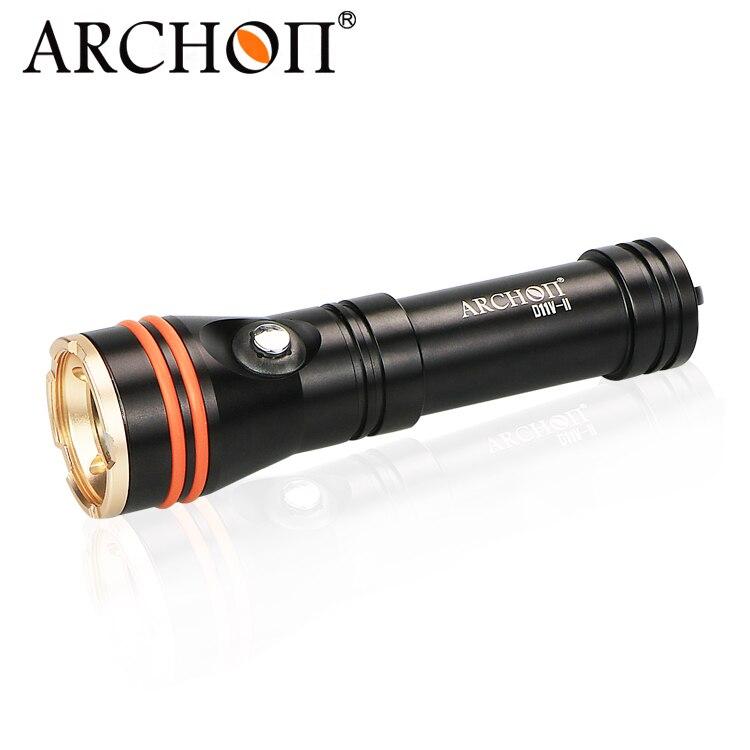 Archon Original D11VII Scuba Diving Torch Underwater Video Torch 18650 1200lm Bright Dive Flashlight Snoot Function