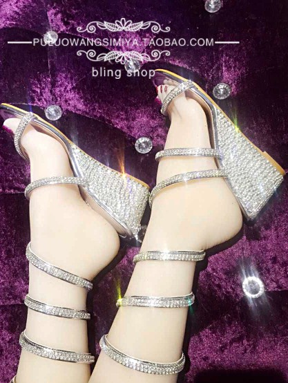 Coins 2019 Serpiform Enroulé Luxe Strass Spirale De Plateforme La Femmes En À Chaussures Main D'été Sandales Coin qZzzvwAXP
