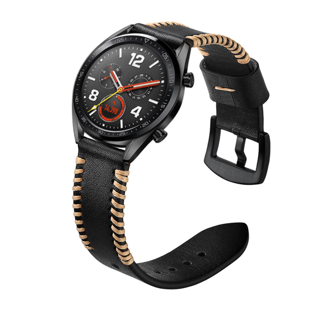 Image 3 - 22MM Smart Replacement Wristband Genuine Soft Comfortable Adjustable Sports Watch With Leather Watch Strap Ribs Type New-in Smart Accessories from Consumer Electronics