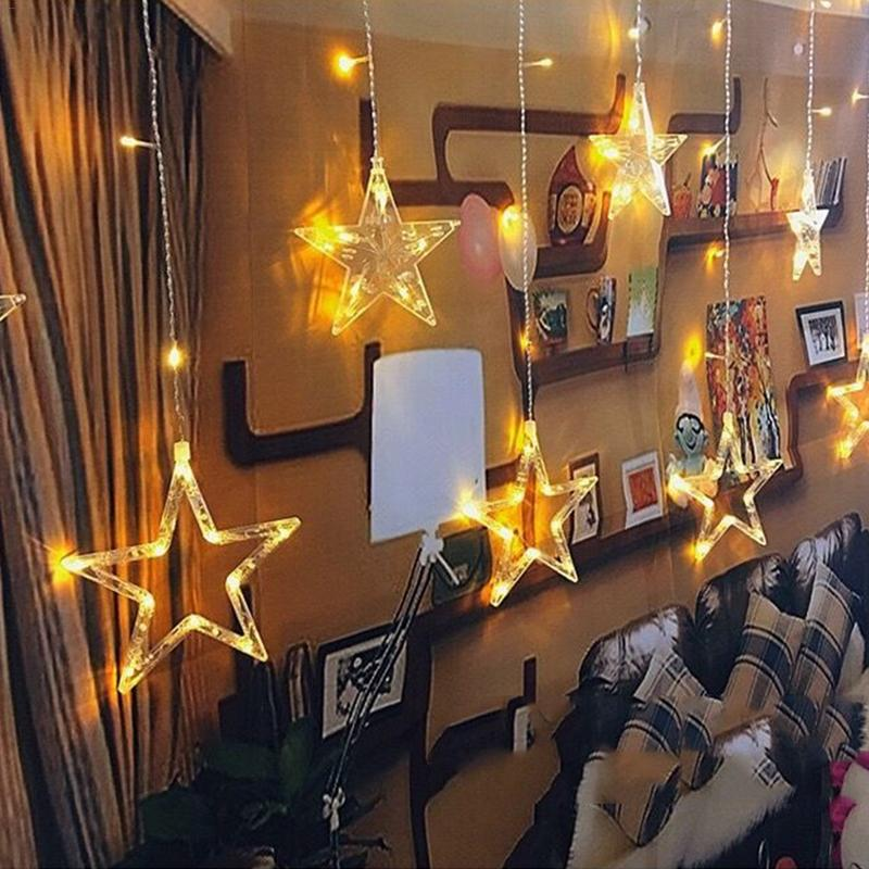 Led Christmas String Fairy Lights Outdoor Ac220v Eu Plug Garland Lamp Decorations For Home Party Garden Wedding Holiday Lighting Lights & Lighting