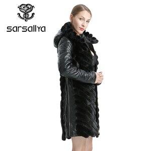 Image 4 - Sarsallya Natuurlijke Nerts Jas Vrouw Winter Jassen Afneembare Leer Echt Bont Jas Vrouwen Kleding Jas Vrouwelijke