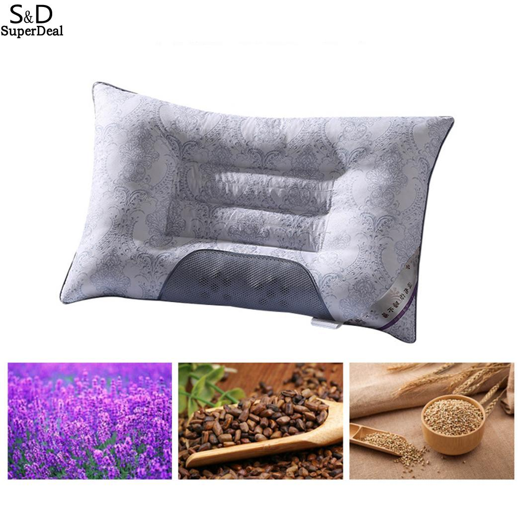 2018 Pillow Semi-magnetic Buckwheat Pillow Neck Breathable Orthopedic Cassia Cervical Health As Lavender Pillow