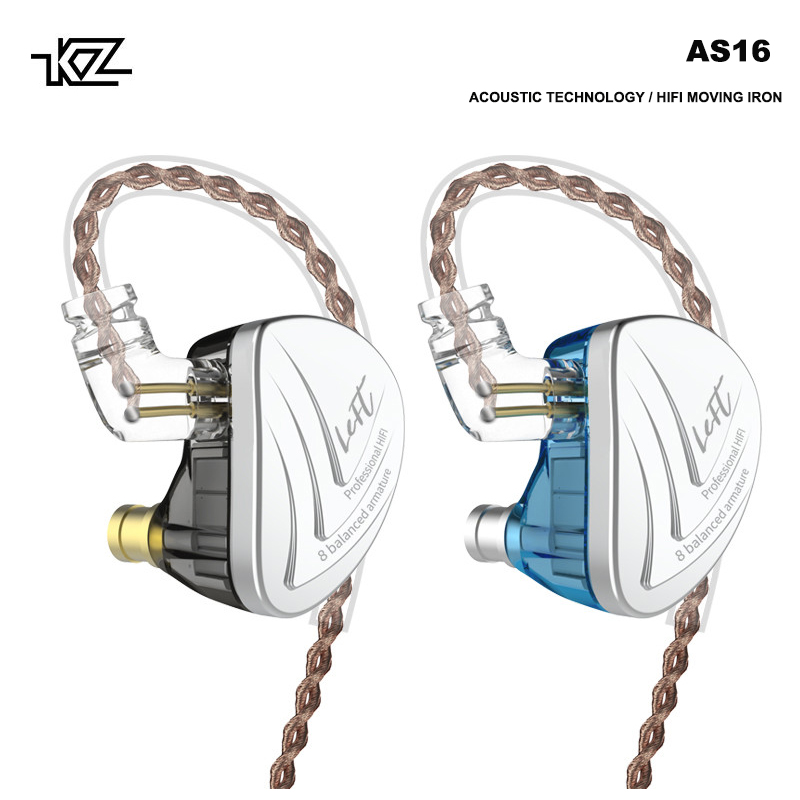 KZ AS16 In Ear headphones Acoustic Technology Balanced Armature Earphones wired Headset Gamer AS10 C16 BA10 CTZ AS06 ZS10 ZSTKZ AS16 In Ear headphones Acoustic Technology Balanced Armature Earphones wired Headset Gamer AS10 C16 BA10 CTZ AS06 ZS10 ZST