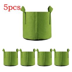 Fabric Plant Growing Bag For Vegetables Tree Planting Bag Durable Green Nursery Seedling Bag Nutrition Grow Flower Pot Thickened