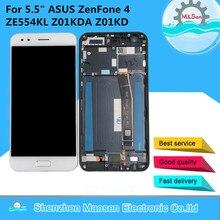 شاشة عرض أصلية 5.5 بوصة لـ ASUS ZenFone 4 ZE554KL Z01KDA Z01KD LCD مع إطار + محول رقمي للوحة اللمس لـ Asus ZE554KL