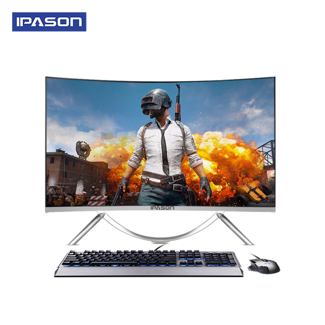IPASON all in one Gaming PC V10 27inch Intel 6 Core I5 9400F DDR4 8G RAM 480g SSD Non-Integrated 1050ti 4G Graphics card 1