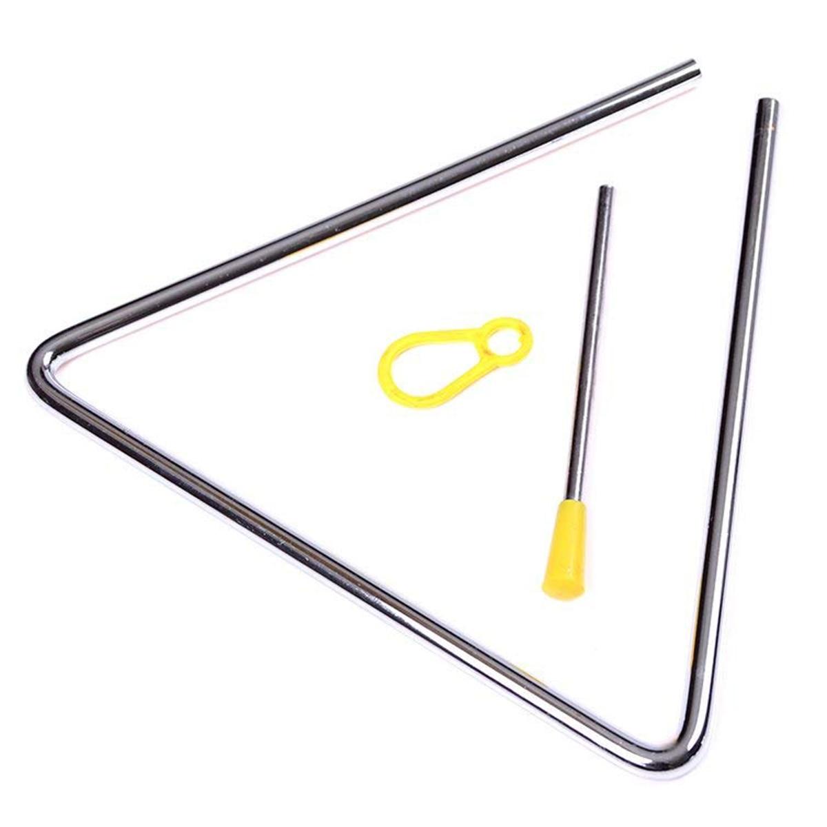 2 Pack 6 inch Music triangular Instrument Set with Striker for kids