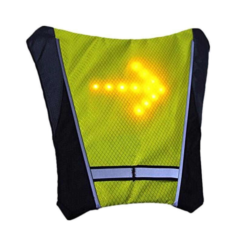 LED Drahtlose Sicherheit Blinker Licht Weste Für Fahrrad Reiten Nacht Warnung Leitstern Weste Gelb Grau