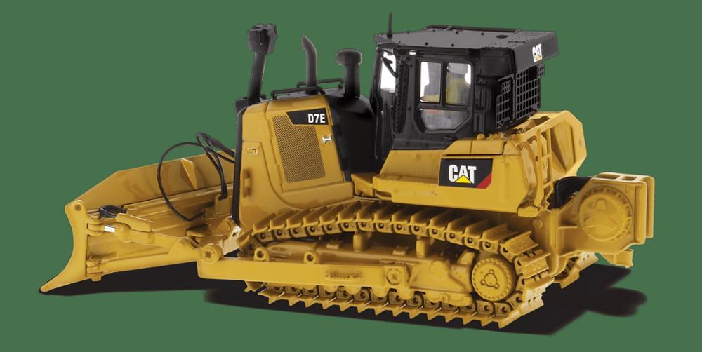 Moulage sous pression Masters 1/50 échelle Caterpillar Cat D7E Type de voie tracteur bulldozer moulé sous pression modèles #85555