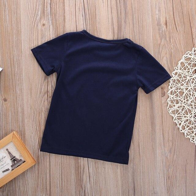 2019 Nuovo Cotone Vestiti Del Bambino Nato Aereo di Stampa della Maglietta Blu Aereo Pianura Magliette Magliette e camicette Vestiti Dei Ragazzi Manica Corta T-Shirt Dei Ragazzi 3