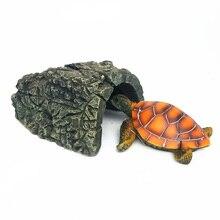 Новинка, аквариумная черепаха, Скорпион, домик в пещере черепахи, греться на платформе, украшение для сцены, товары для домашних животных