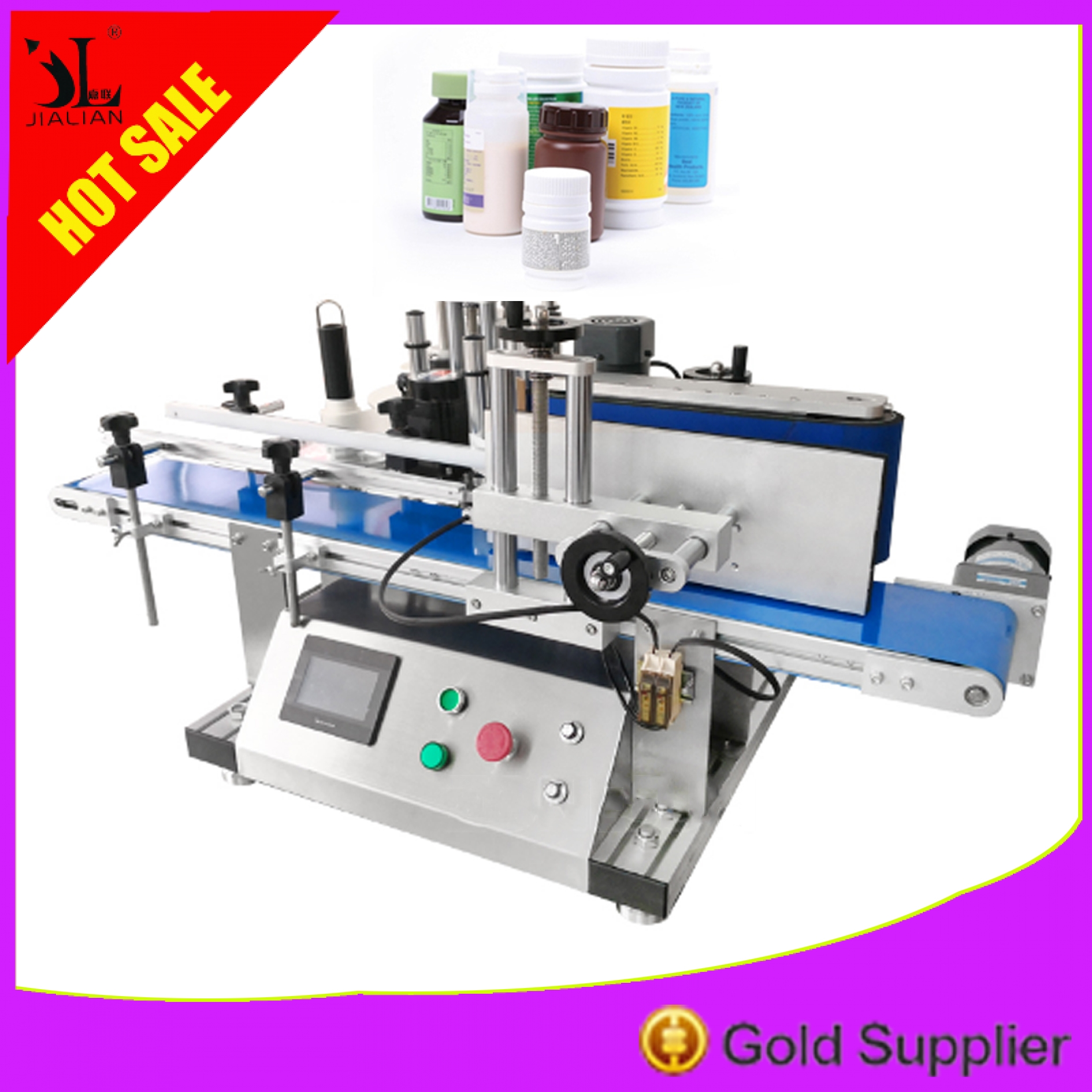 Table Fully Automatic Round Bottle Labelling Machine