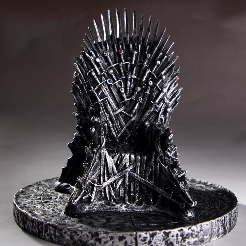 16cm The Iron Throne Model Figure Toy Game of Thrones PVC Figures Song Of Ice And Fire Sword Chair Iron Throne Collective Toys image