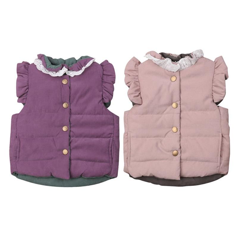 Coat Outerwear Jacket Baby-Girls Winter 12M 6M Vest 1-2-3-4 Gilet Age