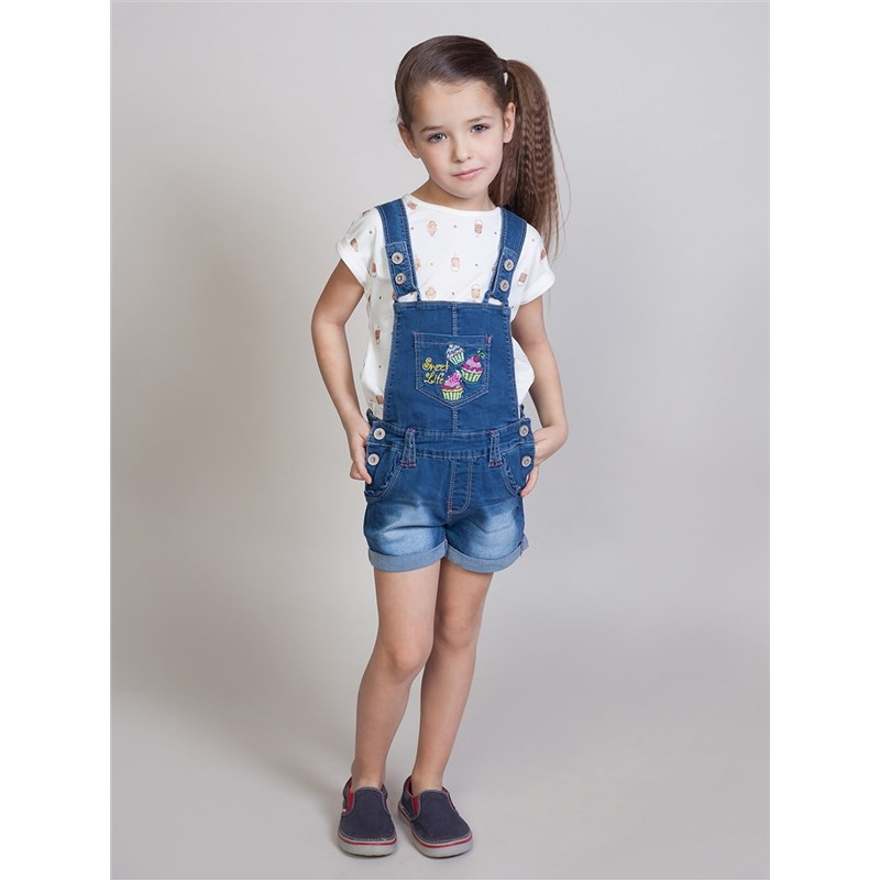 Jeans Sweet Berry Denim overalls for girls kid clothes raw hem ripped button front denim overalls