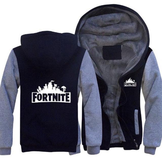 Hot Game Fashion Battle Royal Hip Hop Men thick Fur warm Hoodie sudadera Streetwear printing Punk Rock Sweatshirt Pullover