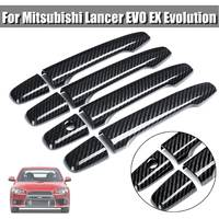 8 Pieces ABS Carbon Fiber Style Door Handle Cover For Mitsubishi Lancer EVO EX Evolution Generation Car Styling