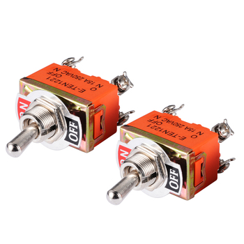 цена на 2Pcs/Set Electrical Mini Toggle Switch AC 250V 15A Amps On/Off 2 Position DPST 4 Screw Terminals Toggle Switches 33*20*20mm