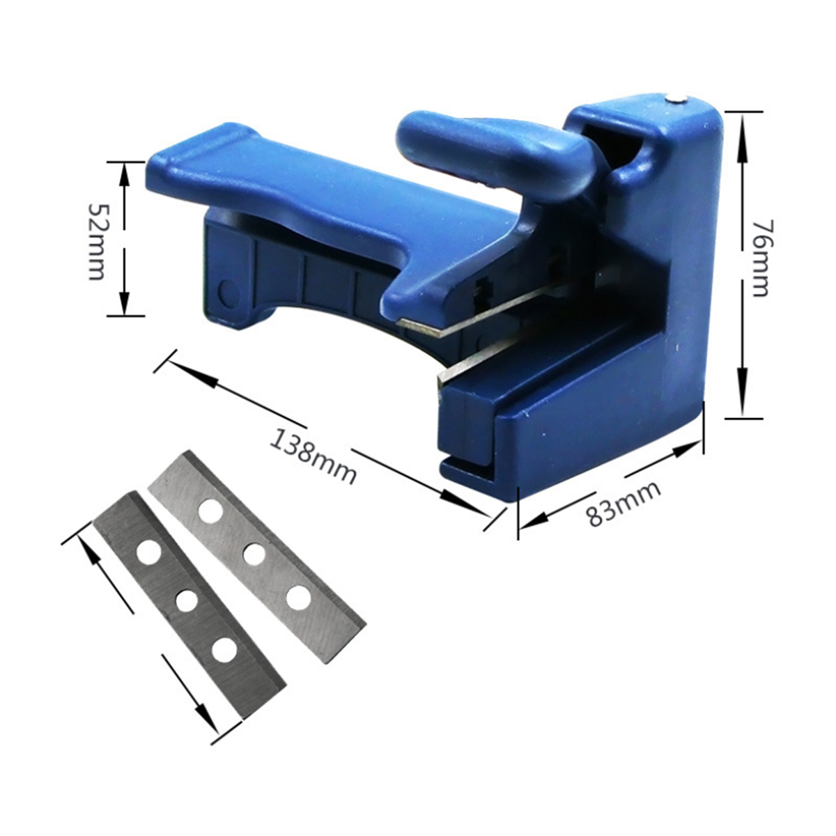 Double Edge Trimmer Manual Edge Bending Cutter Wood Head And Tail Trimming Carpenter Hardware Machine Set
