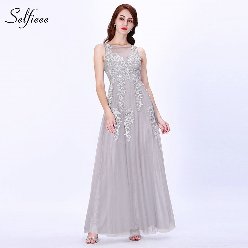 Bridesmaid     Dresses   Long Ever Pretty Deep V-Neck Lace Applique Sleeveless Formal Wedding Party   Dresses   Vestido Fiesta Largo