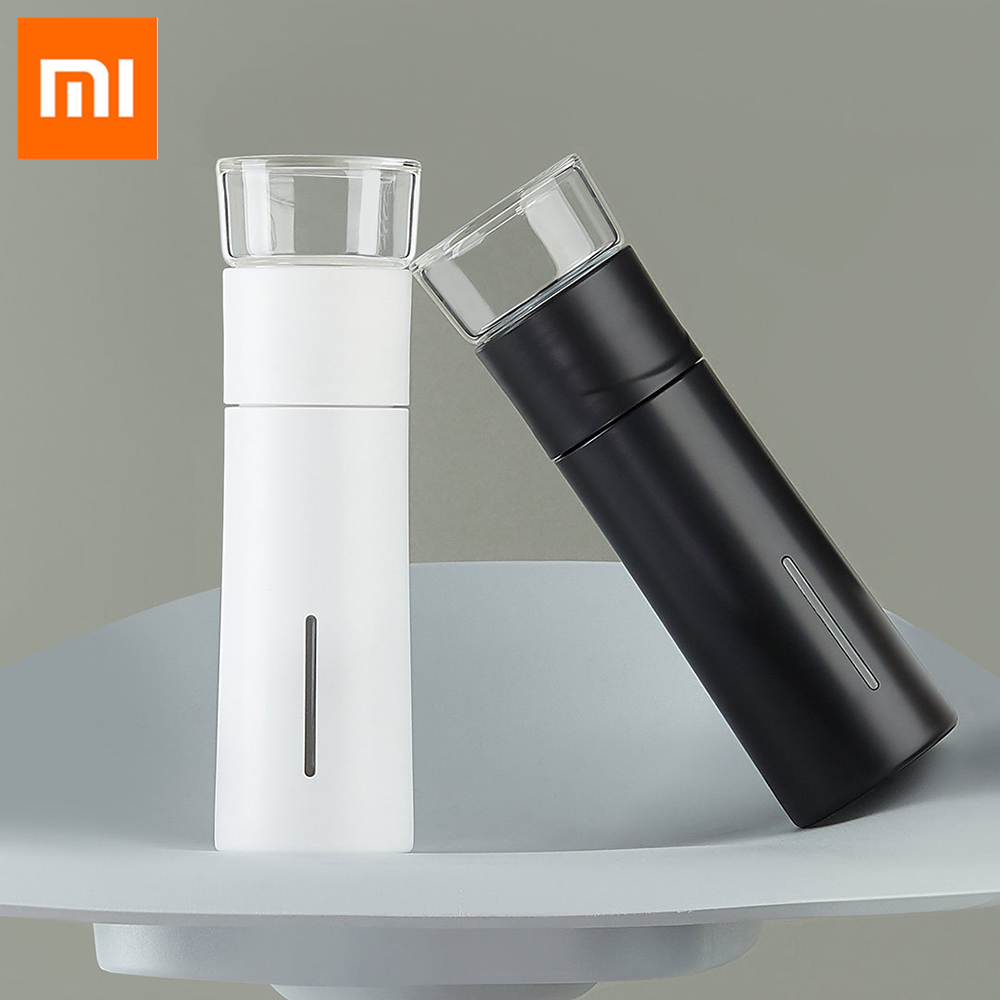 Xiaomi PINZTEA 300ml Portable Water Mug Outdoor Travel Mugs Thermal Cup Tea Infuser Bottle Container Warm Keeping Cup Mijia