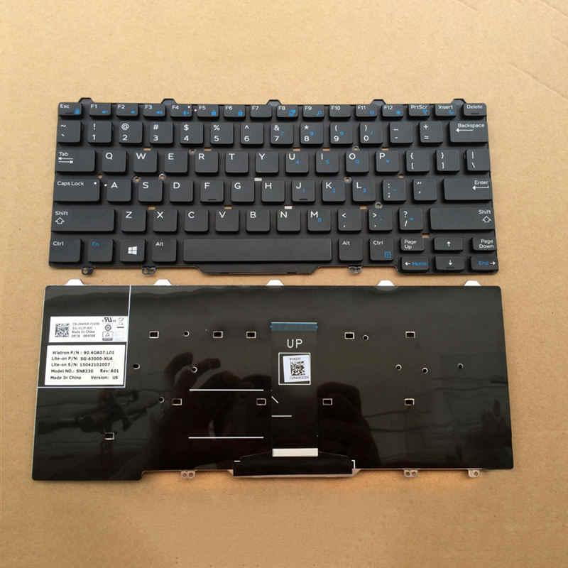 Novo teclado do portátil inglês para dell latitude 3340 e3340 7350 e5450 e7450 5450 7450 versão dos eua sem moldura 9z. nb2uc. a01