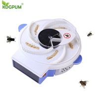 Insect Traps Solar Electric Fly Trap Automatic Flycatcher Pest Reject Control Catcher Mosquito Flying Fly Killer Vliegenvan