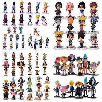 Аниме одна деталь фигурки «Наруто» ПВХ фигурку игрушечные лошадки милый мини модель куклы Коллекция Brinquedos полный набор Лидер продаж