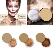 Oil Control Powder Makeup Long Lasting Bronzer Matte Brighten Mineral Dark Skin Contour Loose Face