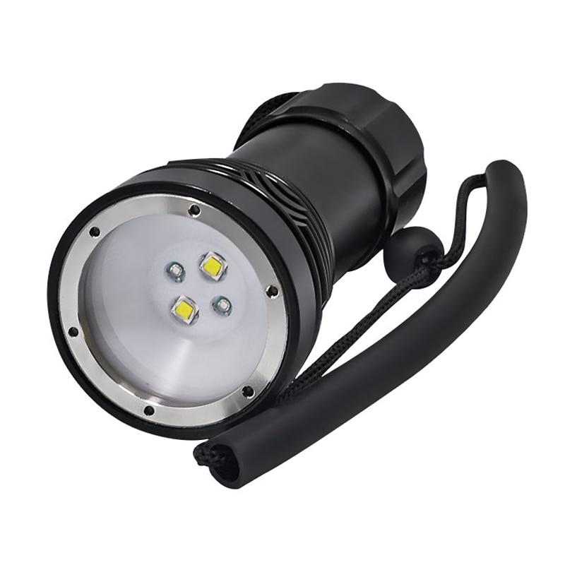 CLAITE Q34 2xL2 + 2 xXPE LED 3000LM 3 Modes 100 Mètres Plongée Sous-Marine Lumière lampe de poche LED 32650 Batterie