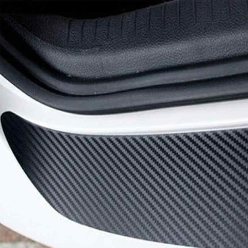 1 шт углеродного волокна передний и задний бампер угловая защитная накладка наклейка с надписью защиты