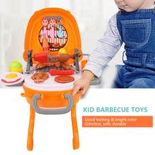 Simulation Mini kitchen Toy Kit Baby Dollhouse Furniture Kids Kitchen Rotisserie Grill Shop Barbecue Food Play House Toys(China)