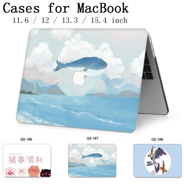 For Laptop Case Sleeve Notebook For MacBook 13.3 15.4 Inch For MacBook Air Pro Retina 11 12 With Screen Protector Keyboard Cove