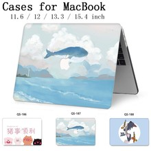 Para portátil funda de ordenador portátil para MacBook 13,3 de 15,4 pulgadas para MacBook Air Pro Retina 11 12 con teclado Protector de pantalla cove