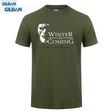 GILDAN  Arrival Men'S Fashion T Shirts winter Is Coming Game Of Thrones T-Shirt - Fruit Of The Loo make Your Own Tee Shirt стоимость