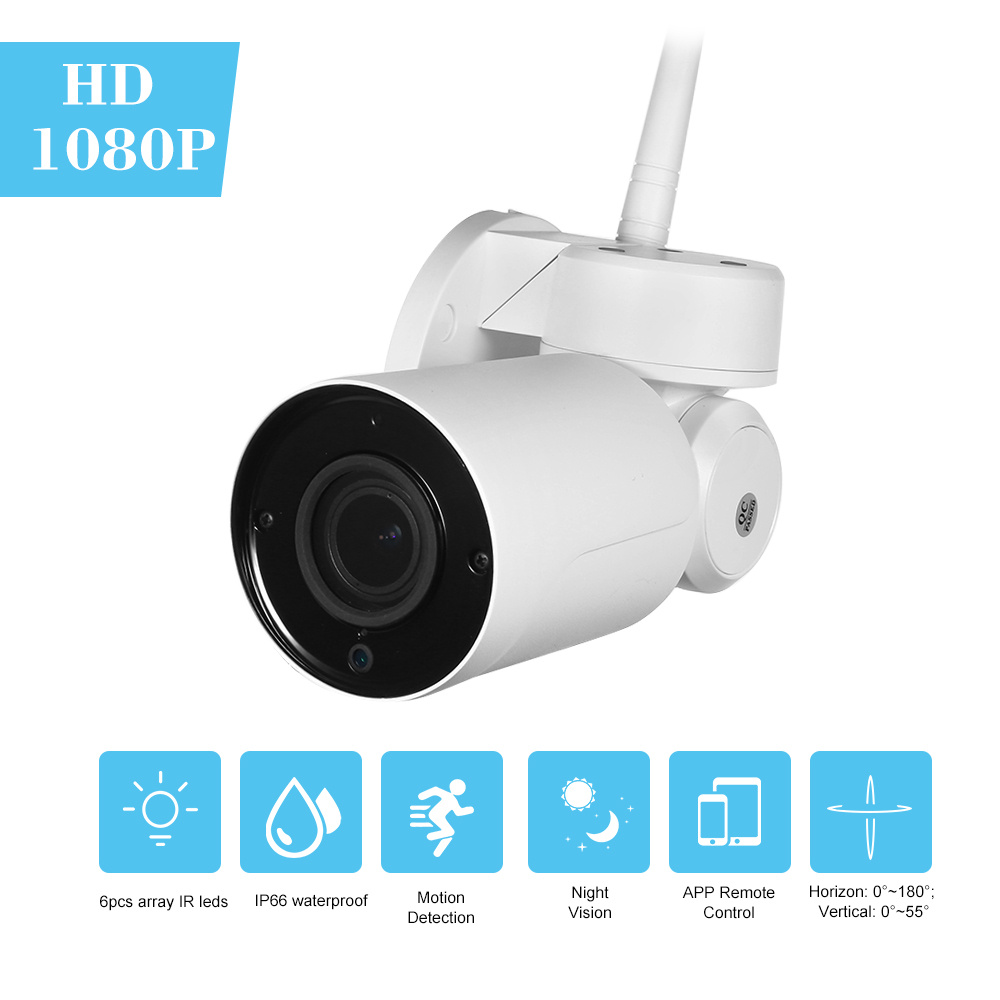 1080P HD Bullet WIFI Camera 2 8 12mm Auto Focus PTZ 4X Optical Zoom Outdoor Weatherproof