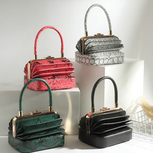 2019 New Runway Walk Show Special Original Designer handbag Retro Unique Organ Genuine Leather Serpentine Women Bag High Quality